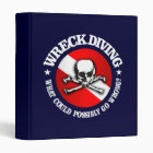 Wreck Diving (Skull) 3 Ring Binder