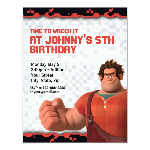 Wreck_It Ralph Birthday Invitation