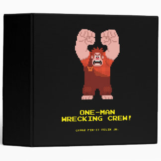 Wreck-It Ralph: One-Man Wrecking Crew! 3 Ring Binder