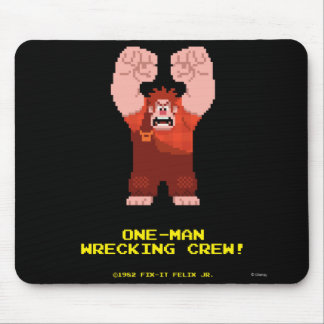 Wreck-It Ralph: One-Man Wrecking Crew! Mouse Pad