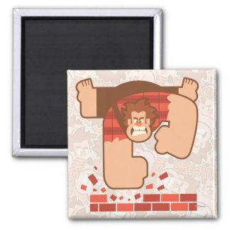 Wreck it Ralph Pounding Bricks 2 Inch Square Magnet