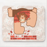 Wreck it Ralph Pounding Bricks Mouse Pad