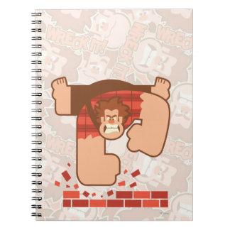 Wreck it Ralph Pounding Bricks Spiral Note Books