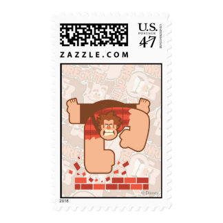 Wreck it Ralph Pounding Bricks Postage