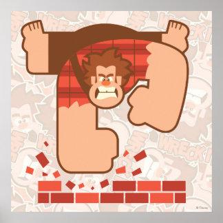 Wreck it Ralph Pounding Bricks Poster