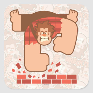 Wreck it Ralph Pounding Bricks Square Sticker