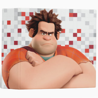 Wreck-It Ralph Standing with Arms Crossed 3 Ring Binder