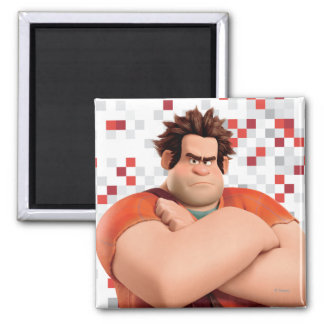 Wreck-It Ralph Standing with Arms Crossed 2 Inch Square Magnet