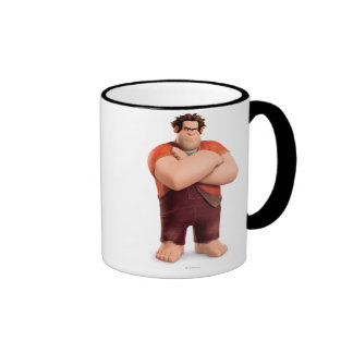 Wreck-It Ralph Standing with Arms Crossed Ringer Coffee Mug