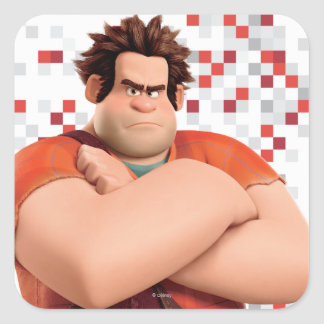 Wreck-It Ralph Standing with Arms Crossed Square Sticker