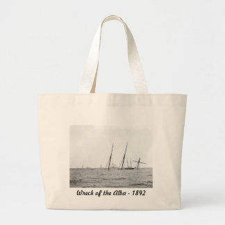 Wreck of the Alba, 1892 Large Tote Bag
