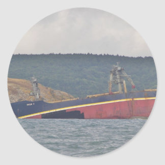 Wreck Of The Orcun C Classic Round Sticker