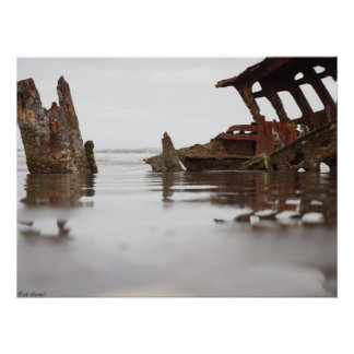Wreck of the Peter Iredale (Poster) Poster