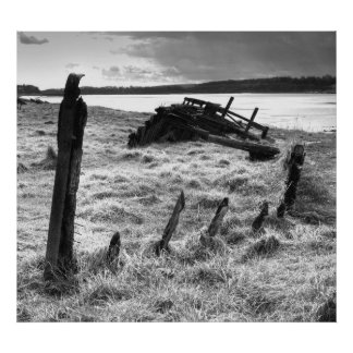 Wreck of The Severn Collier at Purton Poster