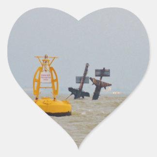Wreck of The Steam Ship Richard Montgomery. Heart Sticker