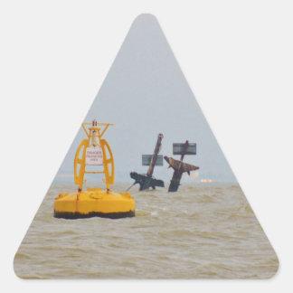 Wreck of The Steam Ship Richard Montgomery. Triangle Sticker