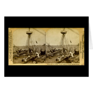 Wreck of the U.S.S. Maine Divers Coming Up Vintage Card