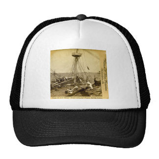 Wreck of the U.S.S. Maine Divers Coming Up Vintage Trucker Hat