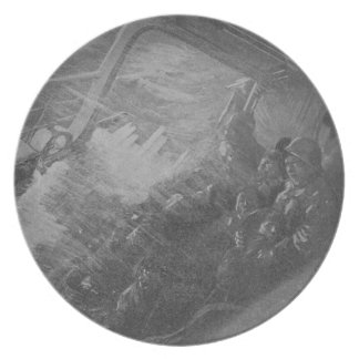 Wreck & Sinking of the Titanic 1912 Melamine Plate