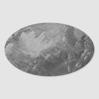 Wreck & Sinking of the Titanic 1912 Oval Sticker