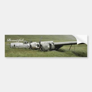 Wreckage of World War II aircraft on Atka Island. Bumper Sticker