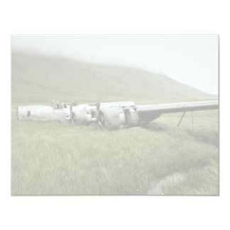 Wreckage of World War II aircraft on Atka Island. Card