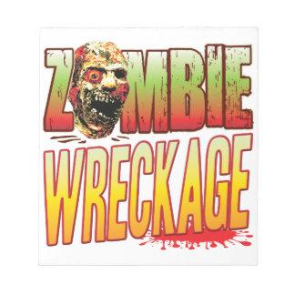 Wreckage Zombie Head Note Pad