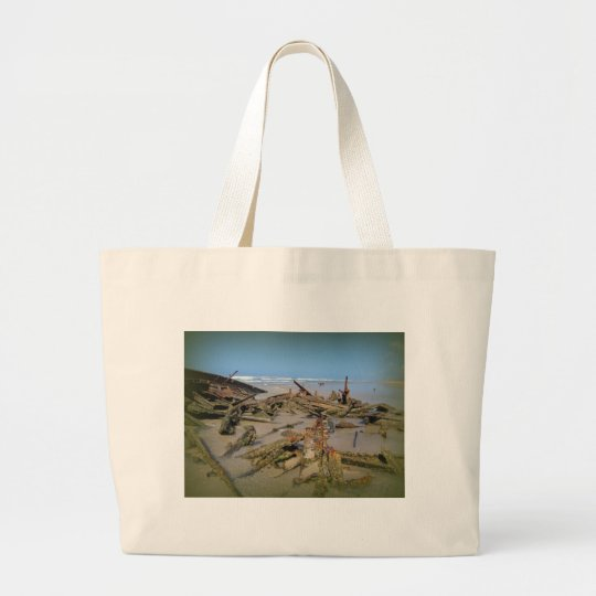 Wrecked Again! Large Tote Bag