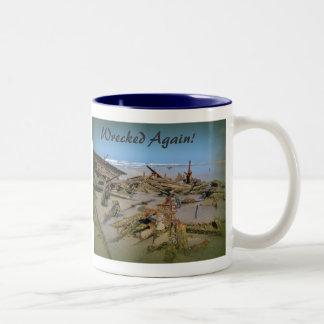 Wrecked Again! Two-Tone Coffee Mug