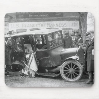 Wrecked Antique Car, 1920s Mouse Pad