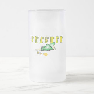 Wrecked 16 Oz Frosted Glass Beer Mug