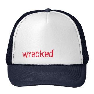 wrecked trucker hat