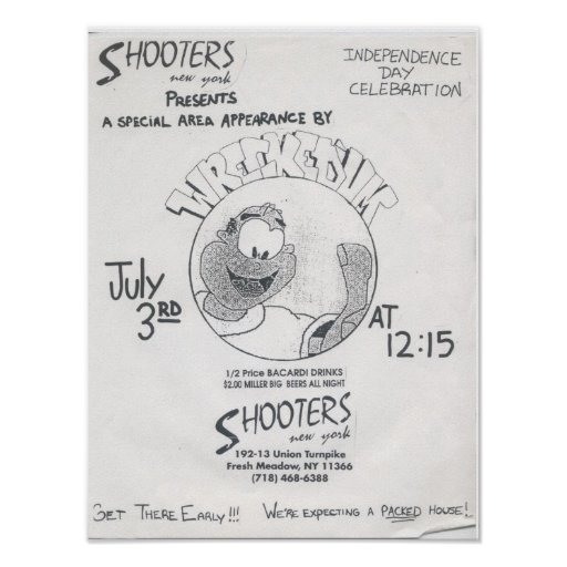 """Wrecked 'Um Live At Shooters """"B"""" Concert Poster"""