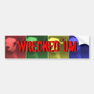 Wrecked 'Um Llama 2 Bumper Sticker