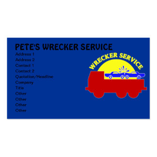 Wrecker Towing Service Business Cards