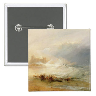 Wreckers - Coast of Northumberland, With a Steam B 2 Inch Square Button
