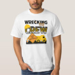 """Wrecking Crew Shirt, Construction Work Zone, Name T-Shirt<br><div class=""""desc"""">Is your little one obsessed with trucks. This will represent your little ones interests perfectly.</div>"""