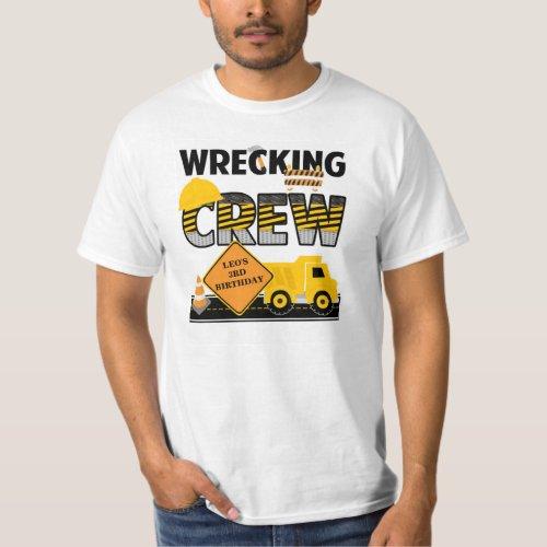 Wrecking Crew Shirt Construction Work Zone Name T_Shirt