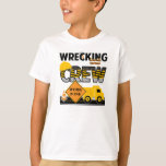 """Wrecking Crew Shirt, Construction Work Zone T-Shirt<br><div class=""""desc"""">Is your little one obsessed with trucks. This will represent your little ones interests perfectly.</div>"""