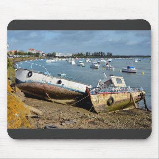 Wrecks in the port of Saint-Gilles-Croix-de-Vie Mouse Pad