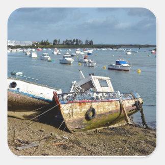 Wrecks in the port of Saint-Gilles-Croix-de-Vie Square Sticker