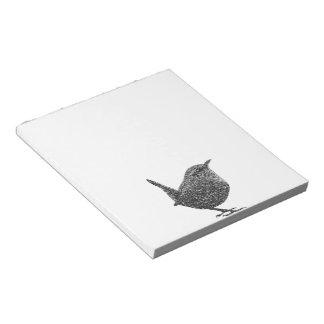 Wren (Black and White) Memo Notepad