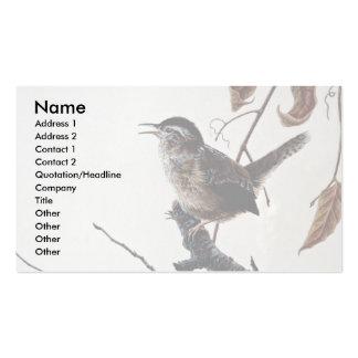 Wren de pantano tarjetas personales