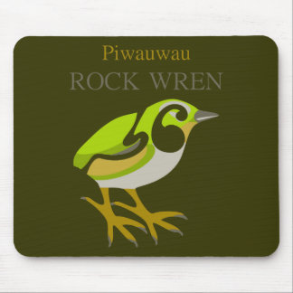 Wren de roca, isla del sur, pájaro de NZ Mouse Pads