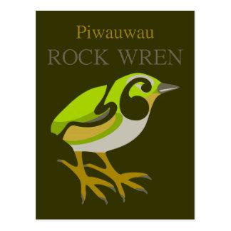 Wren de roca, isla del sur, pájaro de NZ Postal
