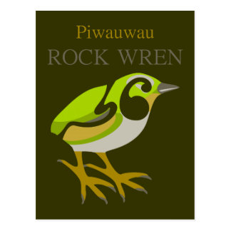 Wren de roca, isla del sur, pájaro de NZ Tarjeta Postal