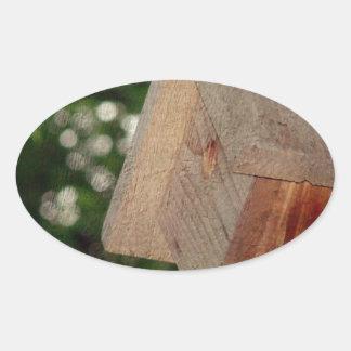 Wren House Oval Sticker