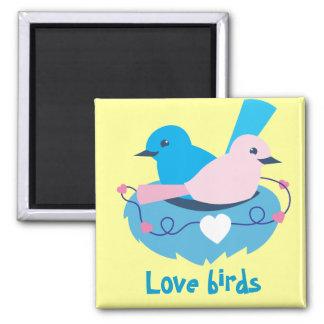 wren love birds nesting 2 inch square magnet