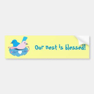 wren love birds nesting bumper sticker