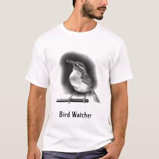 WREN; PENCIL REALISM: BIRD WATCHER T-Shirt